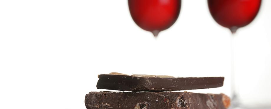Vin- och chokladprovning för två