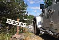 Jeep på terrängbana