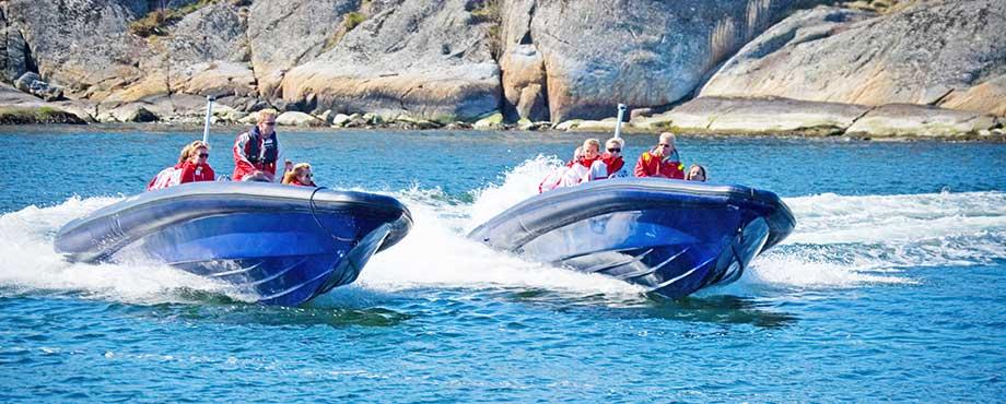 Upplevelser Göteborg – Testa att åka våra supersnabba RIB-båtar!