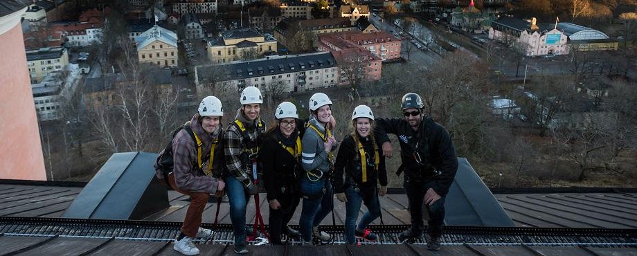 Skåda vackra Uppsala från Uppsala Slotts tak!