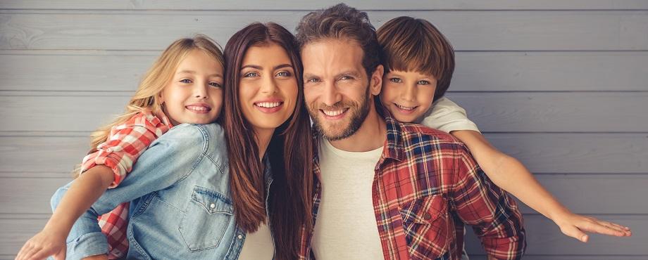Professionell familjeporträtt Image