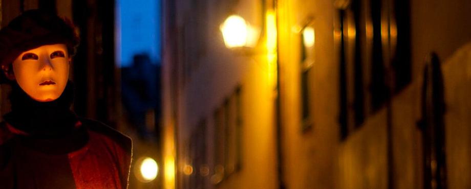 Spökvandring i natten