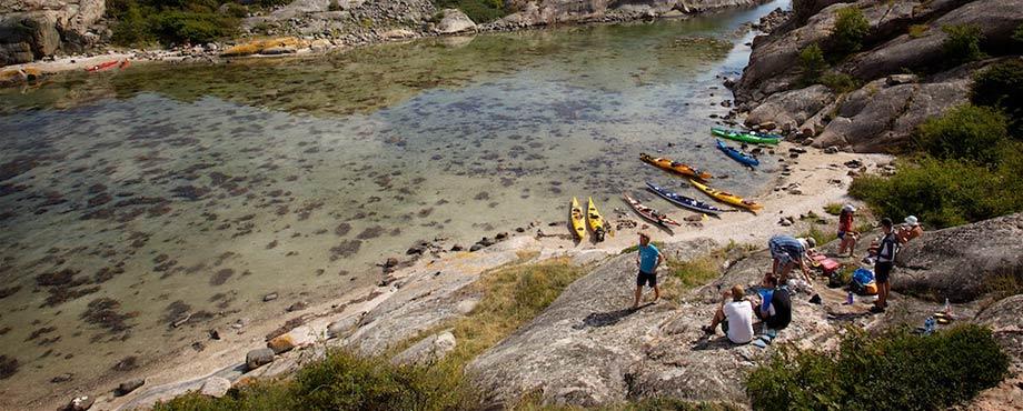 Kajakpaddling och camping