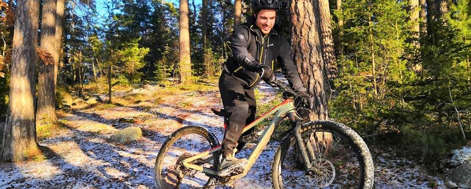 Cykla mountainbike för två