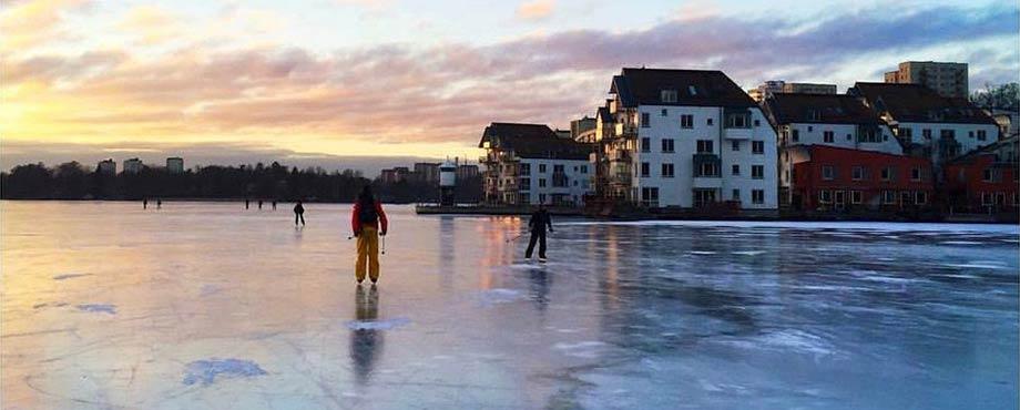 Skridskodag i Stockholm för två