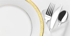 Middag med guldkant för en