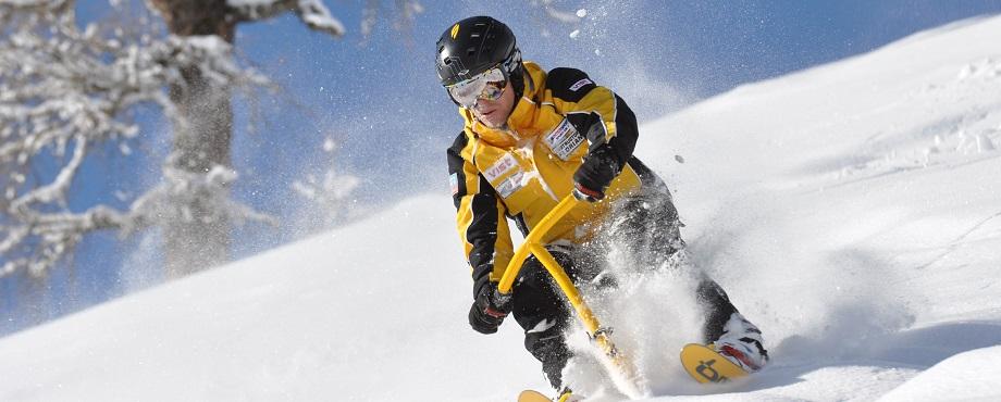 Surfa fram på snön med en Snowbike!