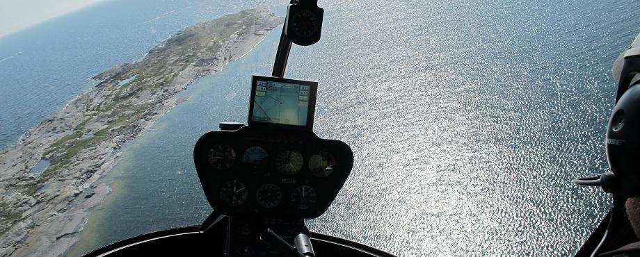 Spaka helikopter. Flyg helikopter.