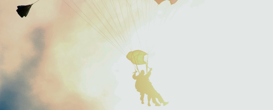Prova på fallskärmshoppning!