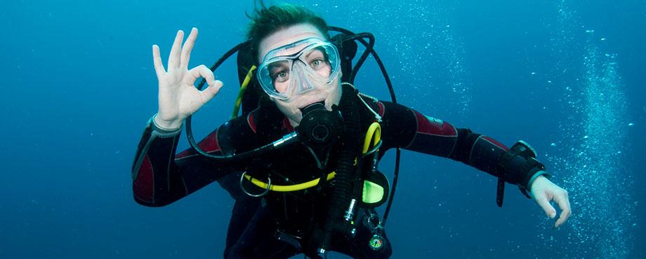 Lär dig dyka. Prova på dyk. Gör ett provdyk. Gör ett provdyk