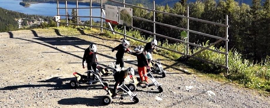 Sladda dig nerför berget med en Mountain Cart!